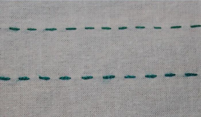 вышивка гладью для начинающих : шов 1