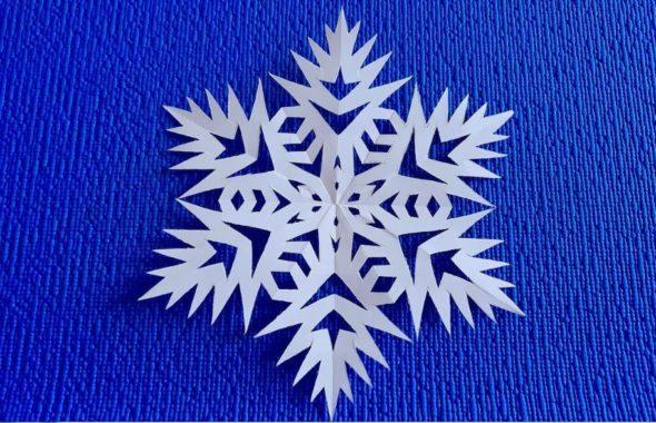 Снежинка из бумаги трафарет : 24 + шаблона