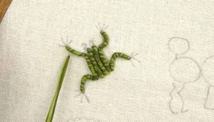 Вышивка лягушонок-8