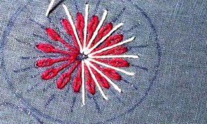 вышивка цветы схемы 15