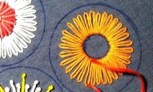 вышивка цветы схемы 6