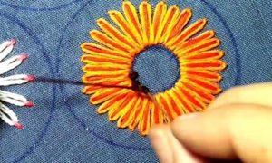 вышивка цветы схемы 4