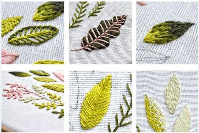 Гладь пошагово: 6 мастер-классов по вышивке листьев гладью
