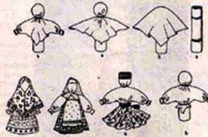 схема кукла тряпичная