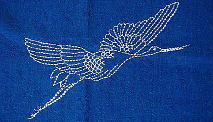 сашико вышивка аиста