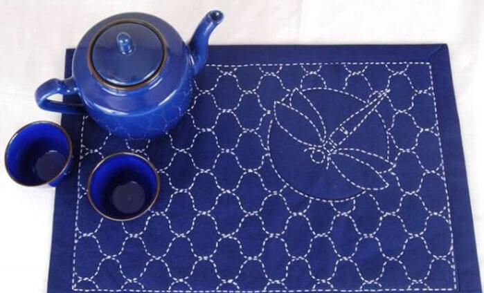 схемы вышивки салфетки