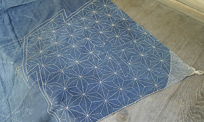 вышивка сашико на ткани