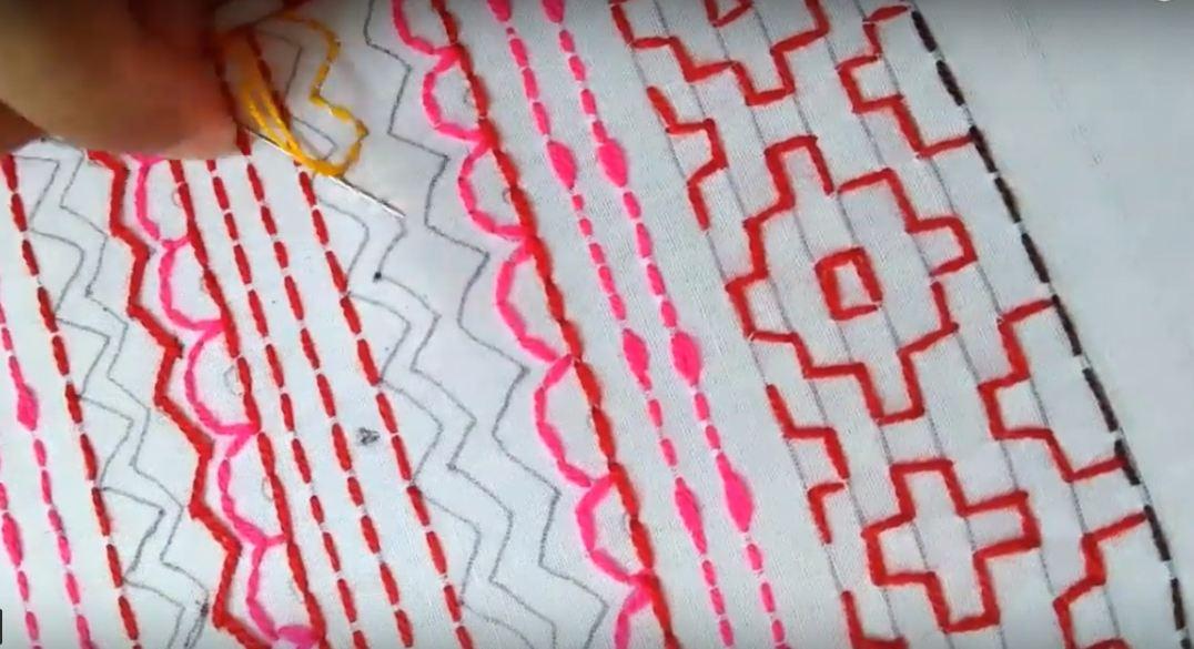 схемы вышивки цветная7