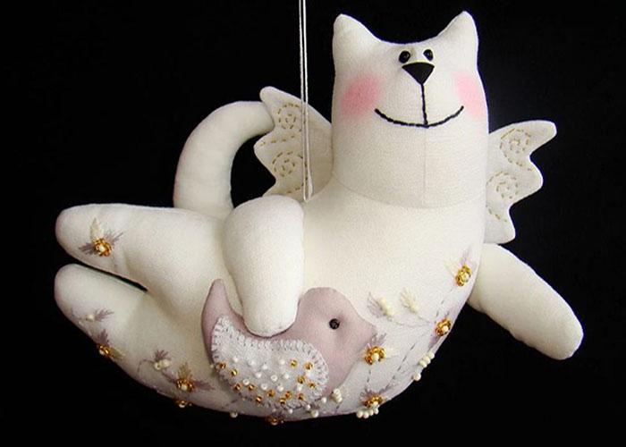 выкройка игрушки кота 4