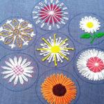 вышивка цветы схемы