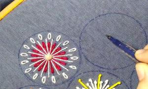 схема цветы вышивка 4