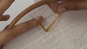 вышивка лист коричневый5