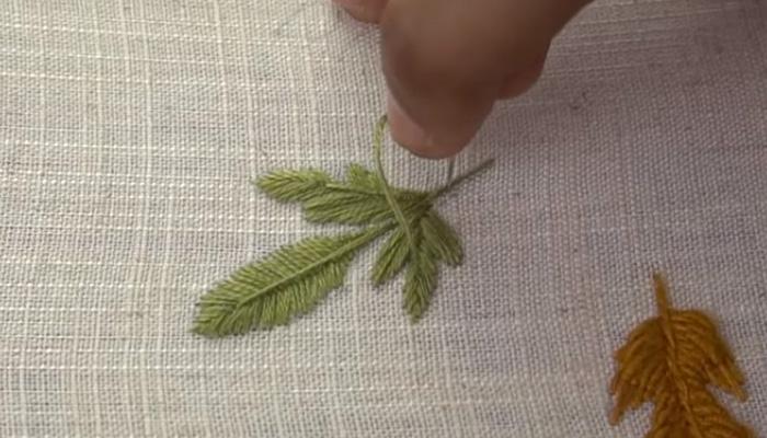 гладью листья 9