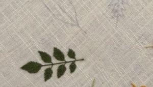 гладь пошагово вышивка лист зеленый 6