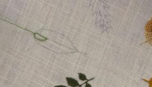 Вышивка лист овал
