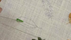 Вышивка лист овал1