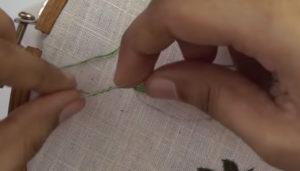 Вышивка лист овал2