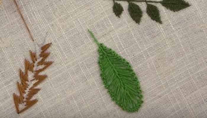 гладью листья 21