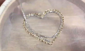 сердце обшиваем серебром