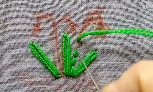 вышивка подснежник 4