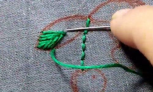 вышиваем вишню 5