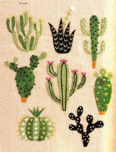 вышивка гладью кактусы 36