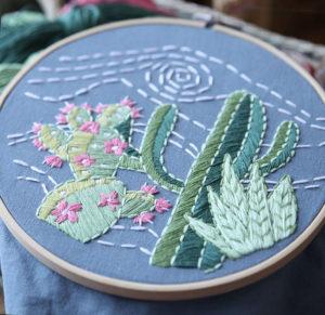 вышивка гладью кактусы 34