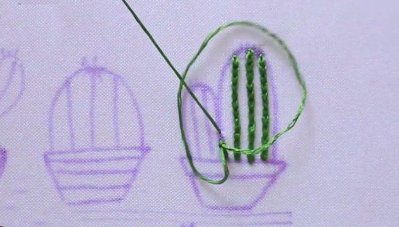 вышиваем кактус длинный 1