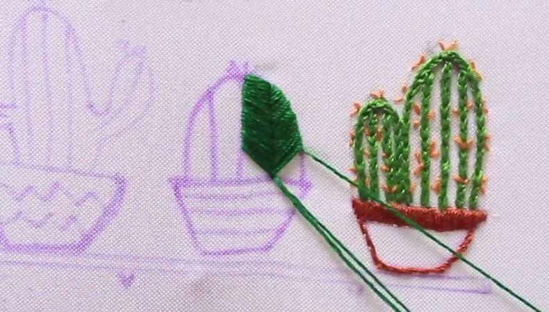 вышивка кактус 1