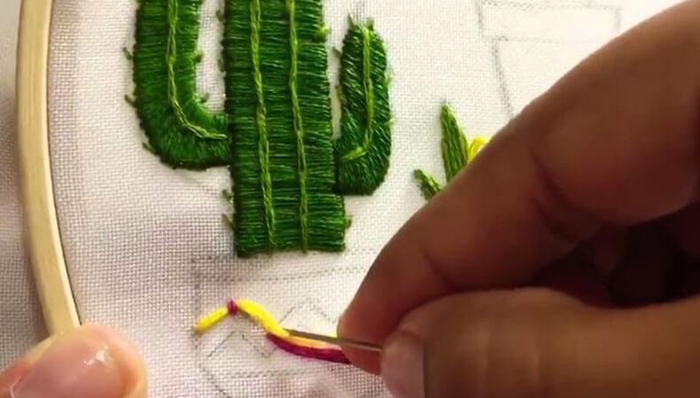 вышивка гладью кактусы 9