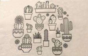 схема вышивки кактусов