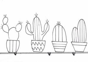 схема рисунок кактусов