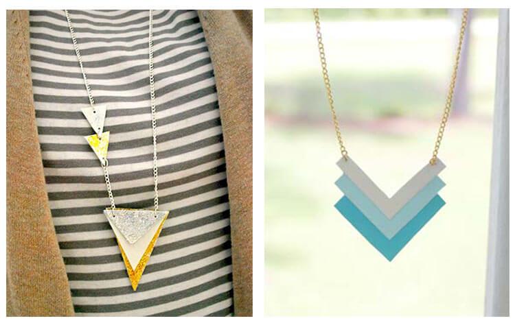 геометрическое ожерелье