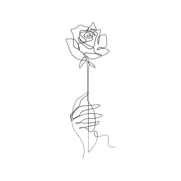 схема для футболки роза