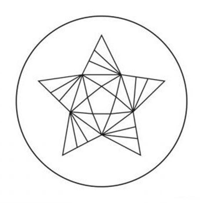 схема для футболки звезда