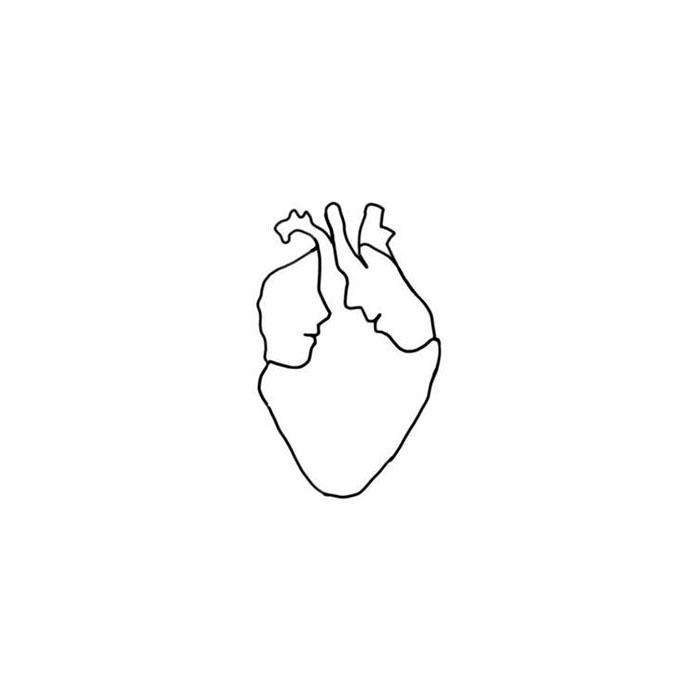 схема для футболки сердце