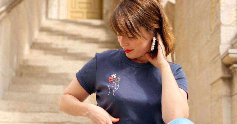 вышивка на футболке своими руками 22
