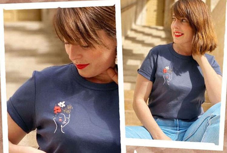 вышивка на футболке своими руками