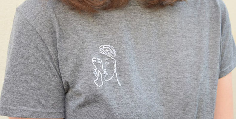 Вышивка на футболке своими руками 1