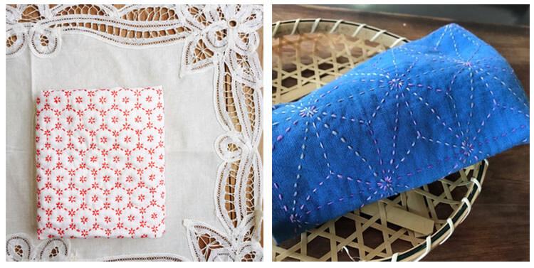 японская вышивка сашико полотенце