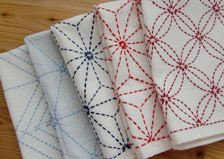 Японская вышивка сашико: 12 схем и уроки для начинающих