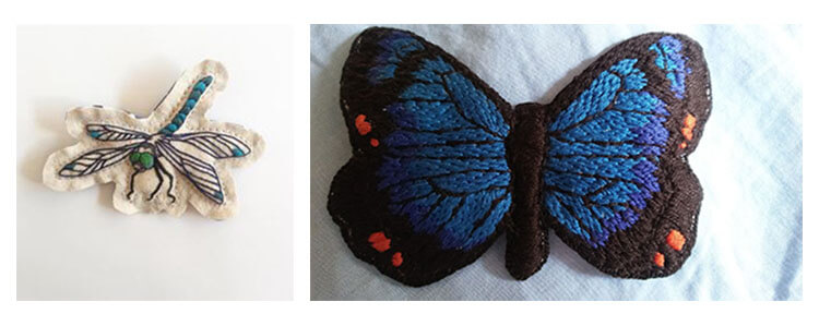 бабочка вышитая