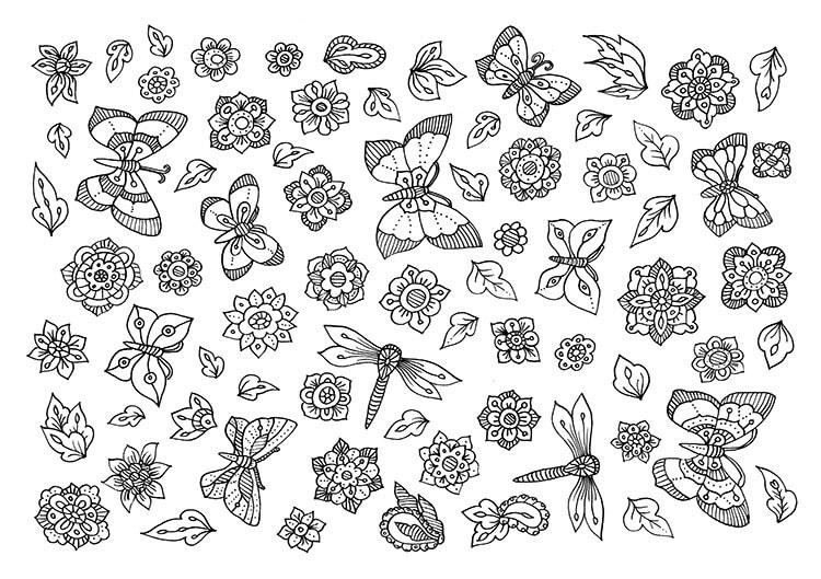 схема бабочек
