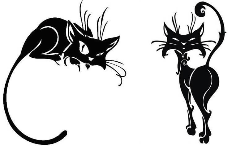 трафарет кошка 1