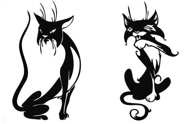 трафарет кошка 3