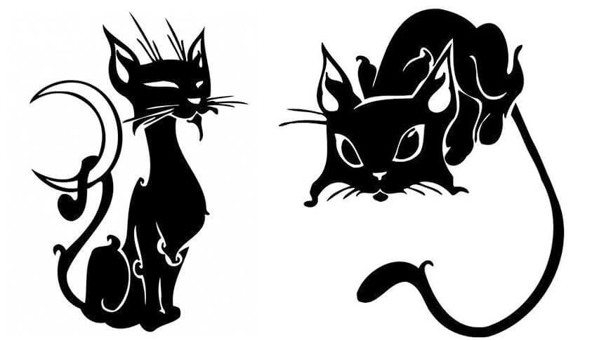 трафарет кошка 4