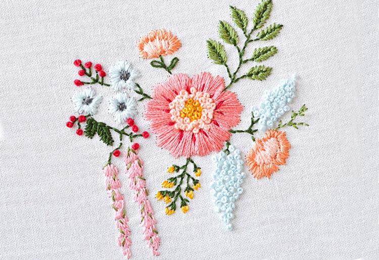 вышивка цветов для начинающих 9
