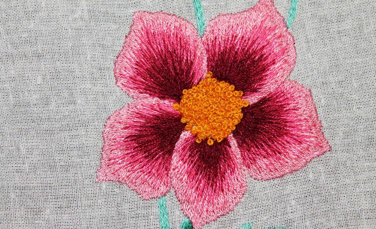 вышивка цветов для начинающих 6