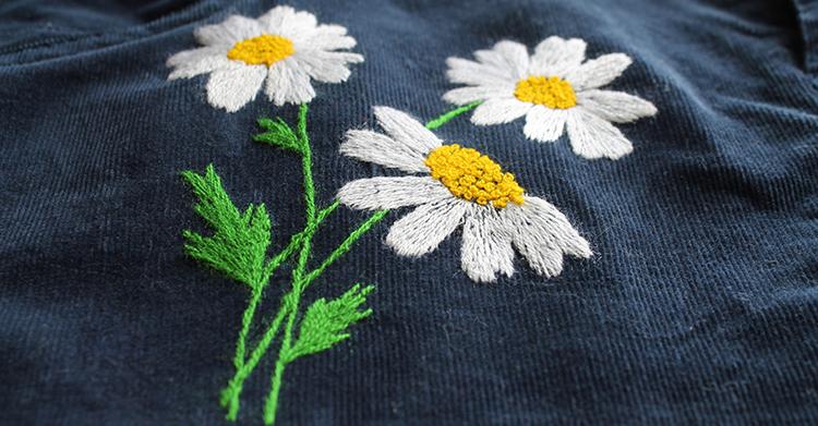 вышивка цветов для начинающих 14