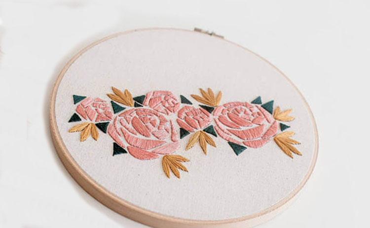 вышивка цветов для начинающих 11